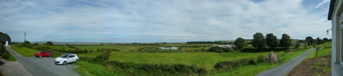 Panoramic picture of view over The Solway Firth
